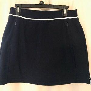 T by Talbots navy tennis skirt/skort